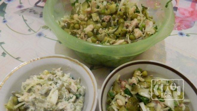 Рецепт салата с копченой говядиной и солеными огурцами