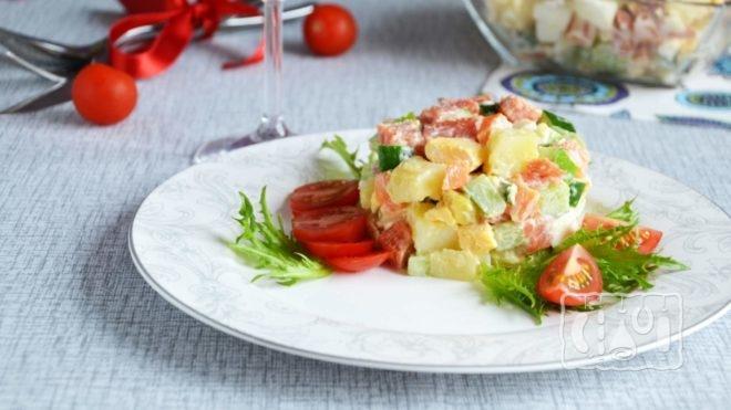 Рецепты приготовления салата с копченой кетой