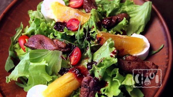 Рецепт приготовления салата с копчёной утки
