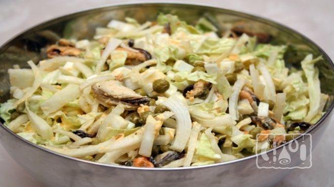 Рецепты приготовления салатов с копчеными мидиями