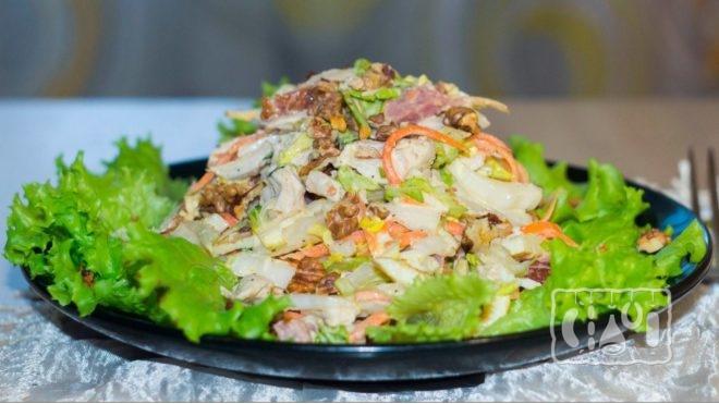 Рецепты приготовление салатов с кукурузы и копченой колбасой