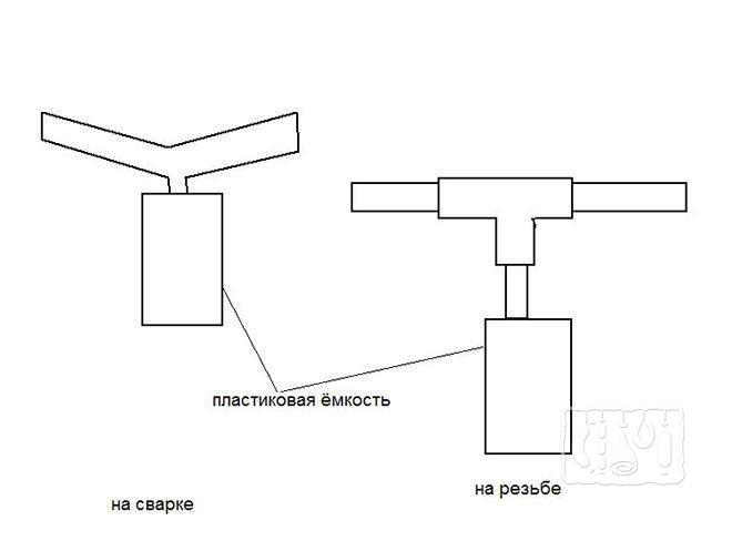 Тройник для отвода конденсата