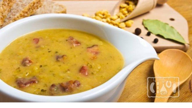 Рецепт горохового супа с копченой колбасой