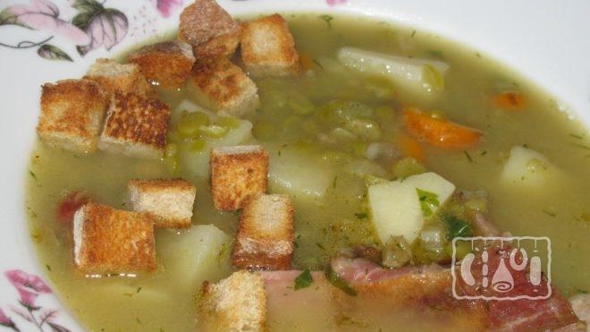 Рецепт горохового супа с копченой свининой