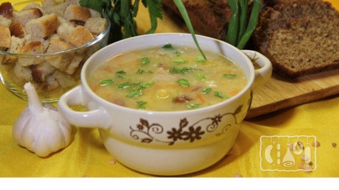 Рецепт горохового супа с копченостями из мультиварки