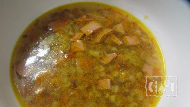 Рецепт горохового супа с копчеными сосисками