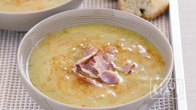 Рецепт горохового супа с копченым салом