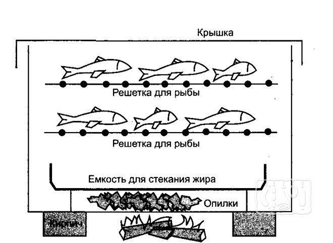 Коптильная камера для рыбы