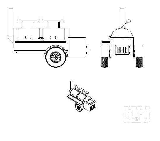 Как сделать гриль коптильню на колесах