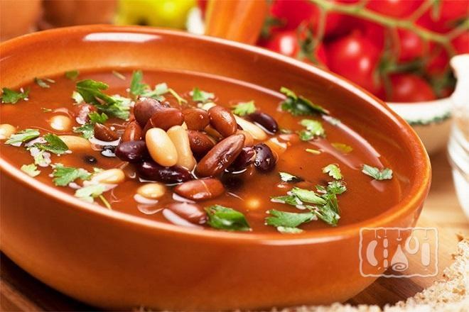Суп с копченым мясом