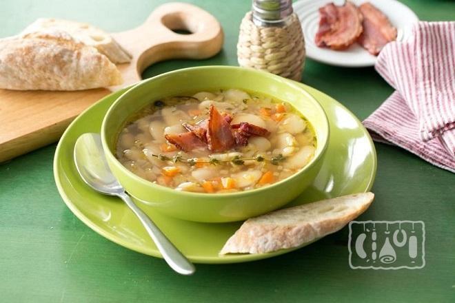 Рецепт супа с копченостями