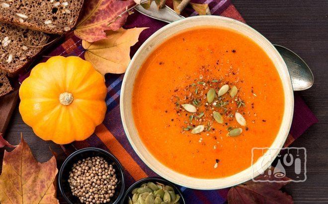Суп с томатами и тыквой