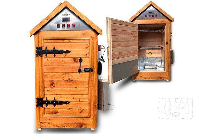 Две деревянные коптильни