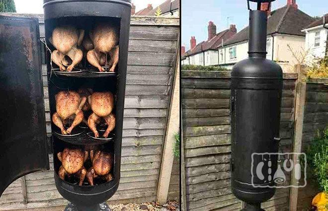 Копчение курицы в коптильной камере