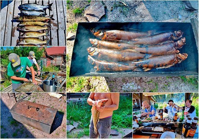 Копчение рыбы в походе