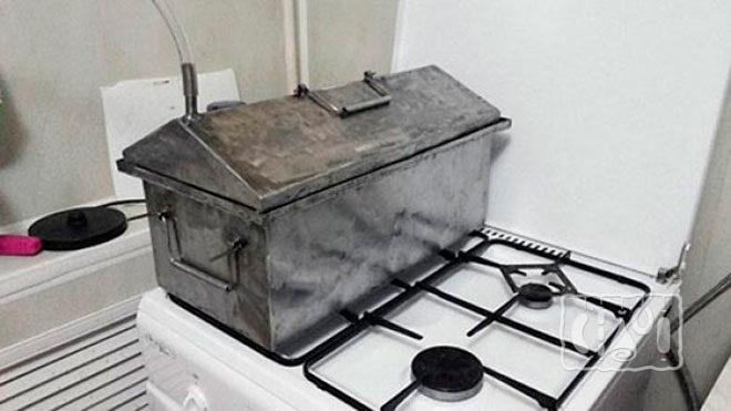 Использование коптильни на газу