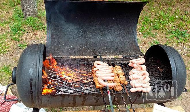 Приготовление еды на камере-гриль