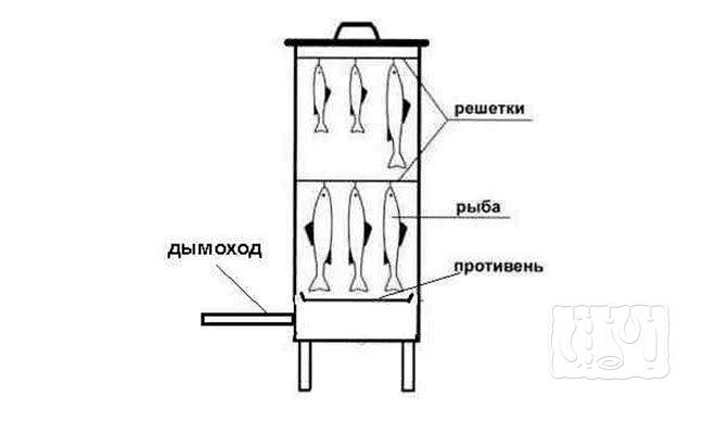 Коптильня холодного копчения (схема)
