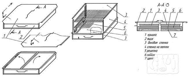 Складная коптильня в контейнере (схема)