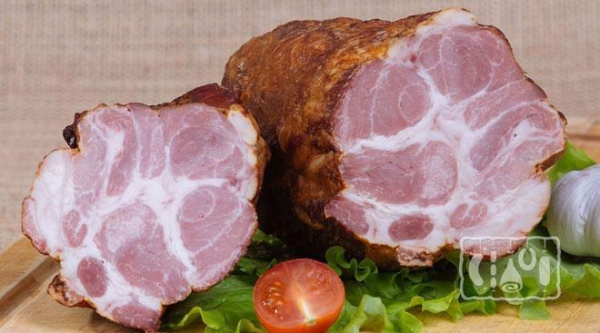 Фото копченой свиной шейки