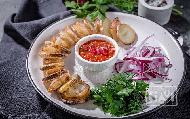 Блюдо с бараньим салом