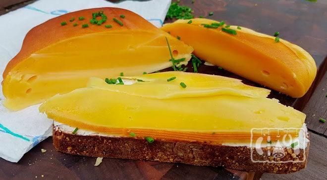 Сыр, копченый в коптильне. Рецепт